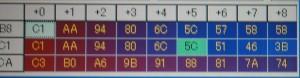 これが吸気温度補正パラメーターマップだよ