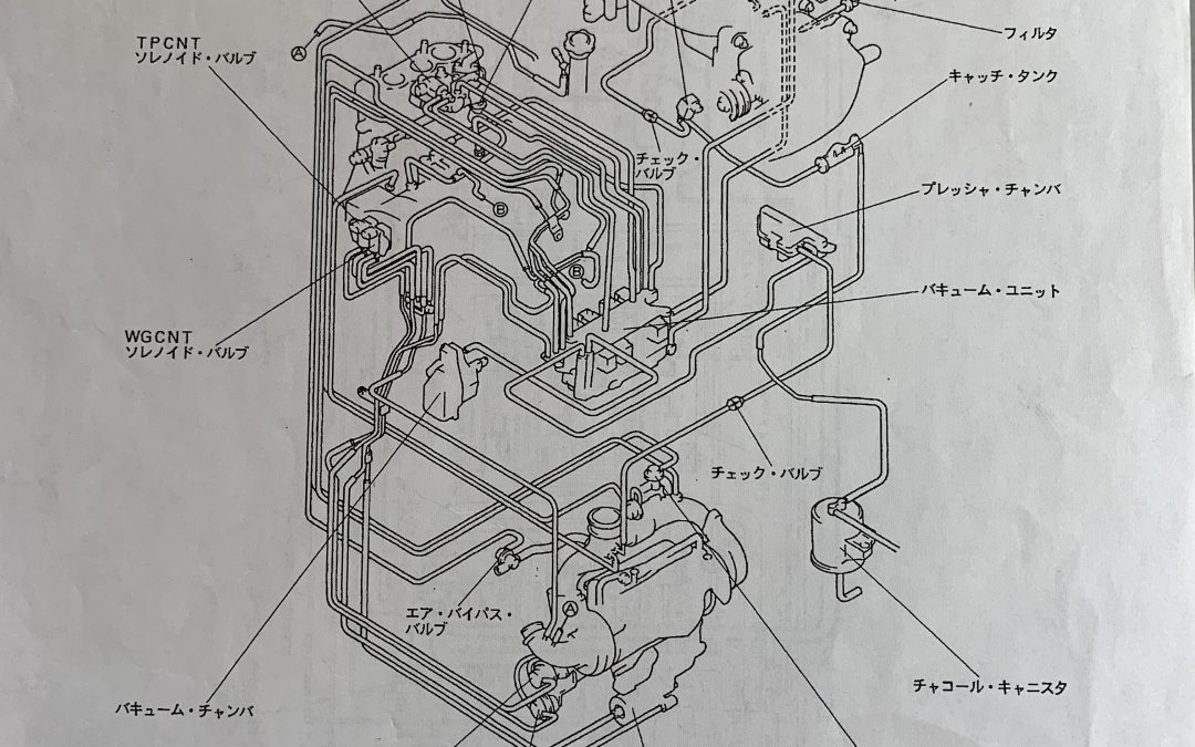 FD3S 4型5型6型バキューム配管図